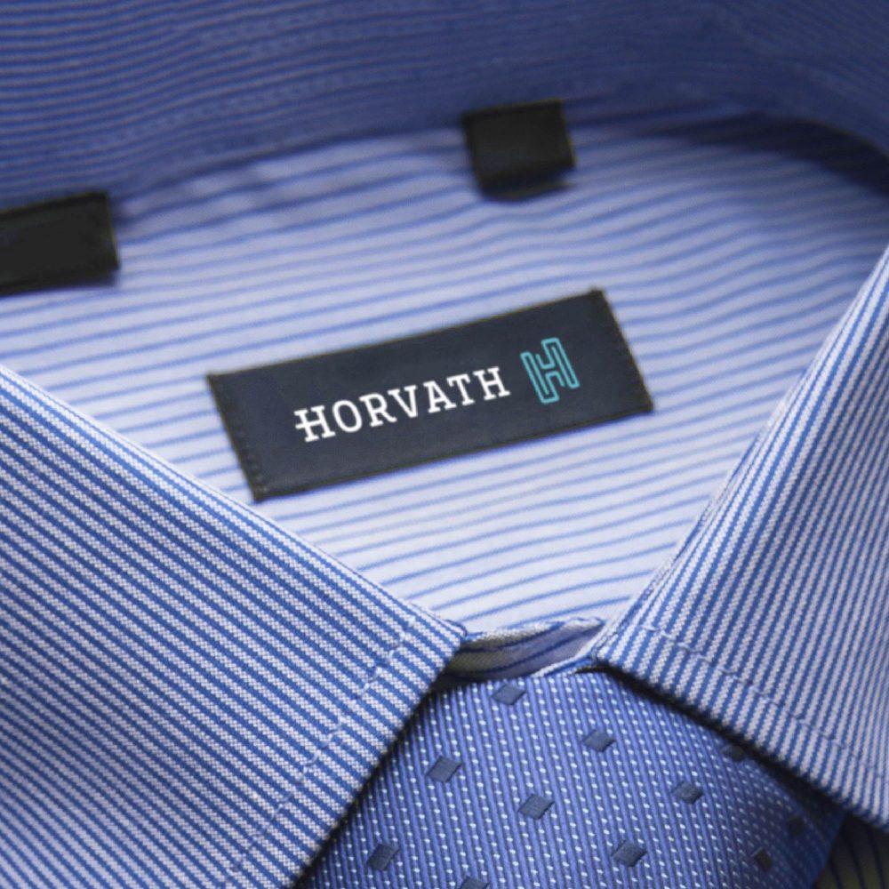 Etiqueta de tecido para camisas Horvath
