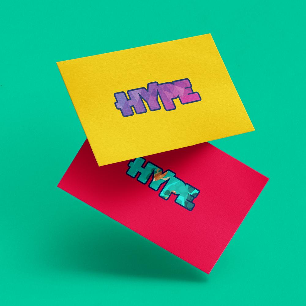 Mockup logotipo hype variações